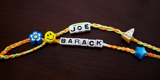 https://twitter.com/VP/status/761253705341480962 Screengrab of Joe Biden's Twitter post of obama's friendship bracelet he made him 8/5/16 Source: Joe Biden/Twitter
