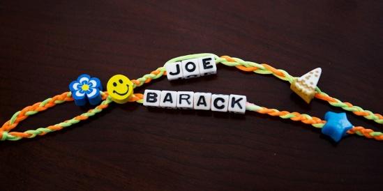 https://twitter.com/VP/status/761253705341480962 Screengrab of Joe Biden's Twitter post of obama's friendship bracelet he made him 8/5/16 Source: Joe Biden/Twitter